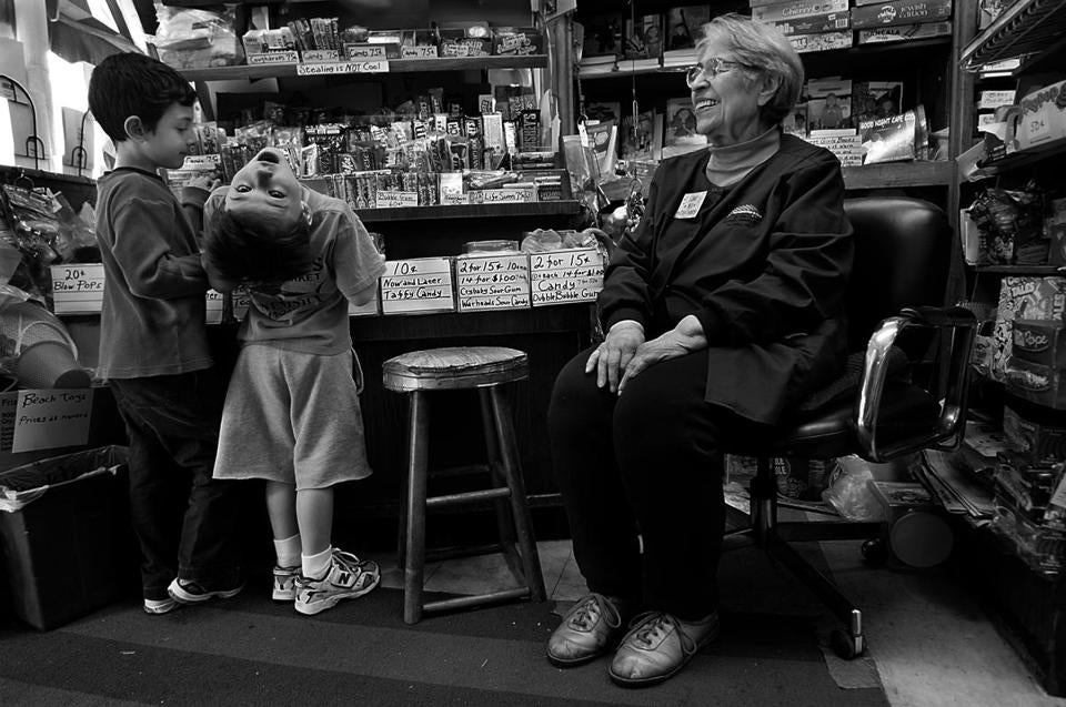Ethel Weiss ran her Brookline toy store since 1939.