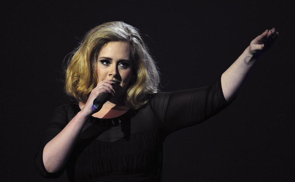 "Adele's album ""25"" made headlines in 2015."