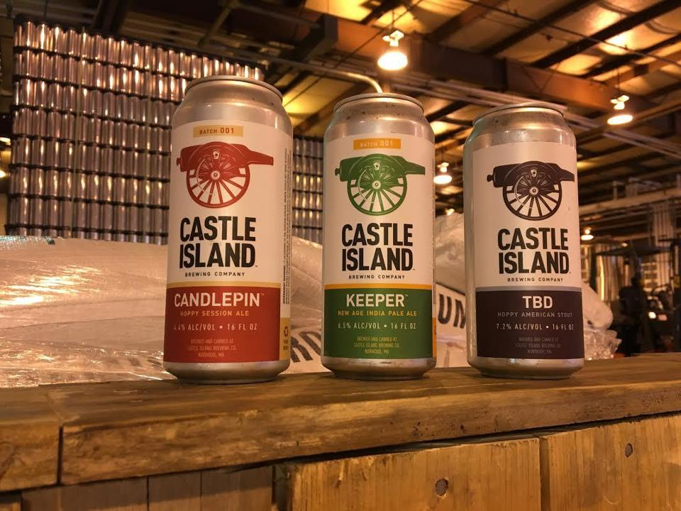 Castle Island Brewing's first three beers are: Candlepin, a hoppy session ale; Keeper, an American IPA; and TBD, a hoppy American Stout.