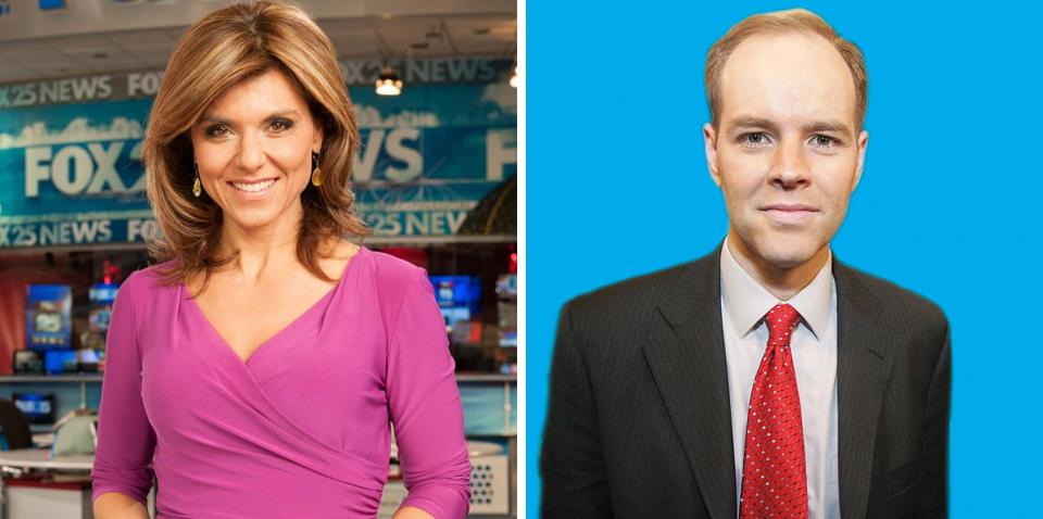 Rumors circulated that former WFXTTV anchor Maria Stephanos (left) would resurface with meteorologist Pete Bouchard at a newly formed station, NBC Boston.