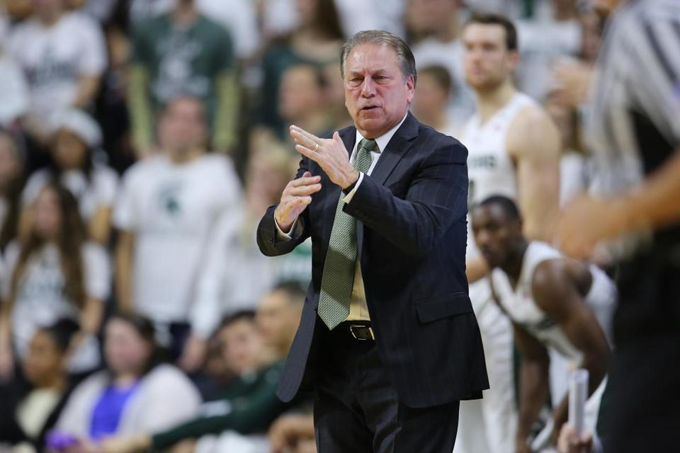Tom Izzo and the Michigan State Spartans will be in Boston this weekend to face Northeastern at historic Matthews Arena.