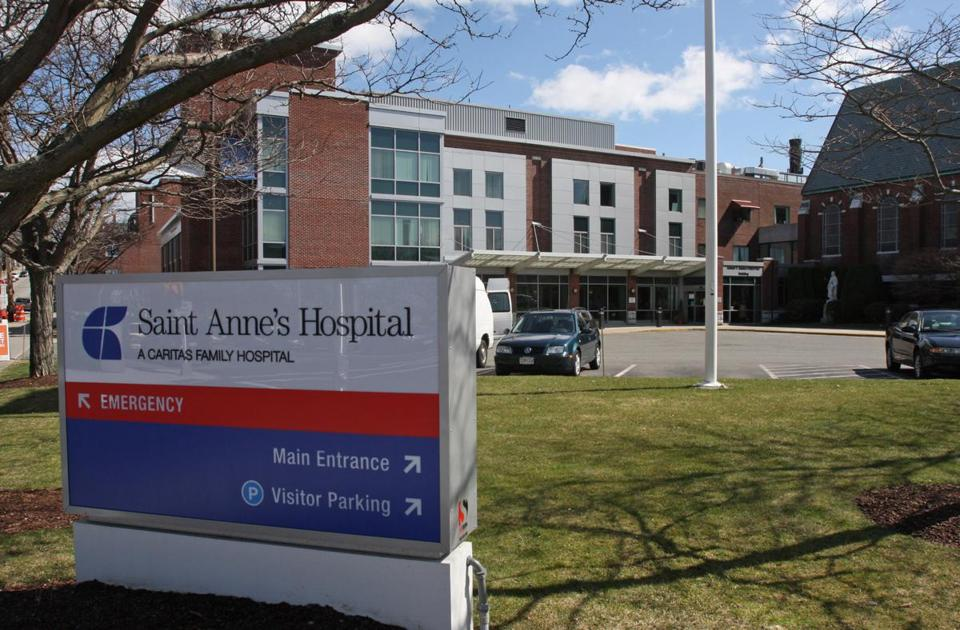 Steward Health Care System wants to open a diagnostic cardiac catheterization laboratory in St. Anne's Hospital in Fall River (above), but rival Southcoast Health System is trying to block it.
