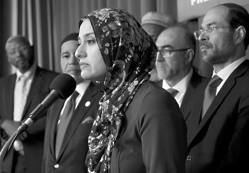 Rabiah Ahmed of the Muslim Public Affairs Council and other officials unveiled the plans Monday in Washington.