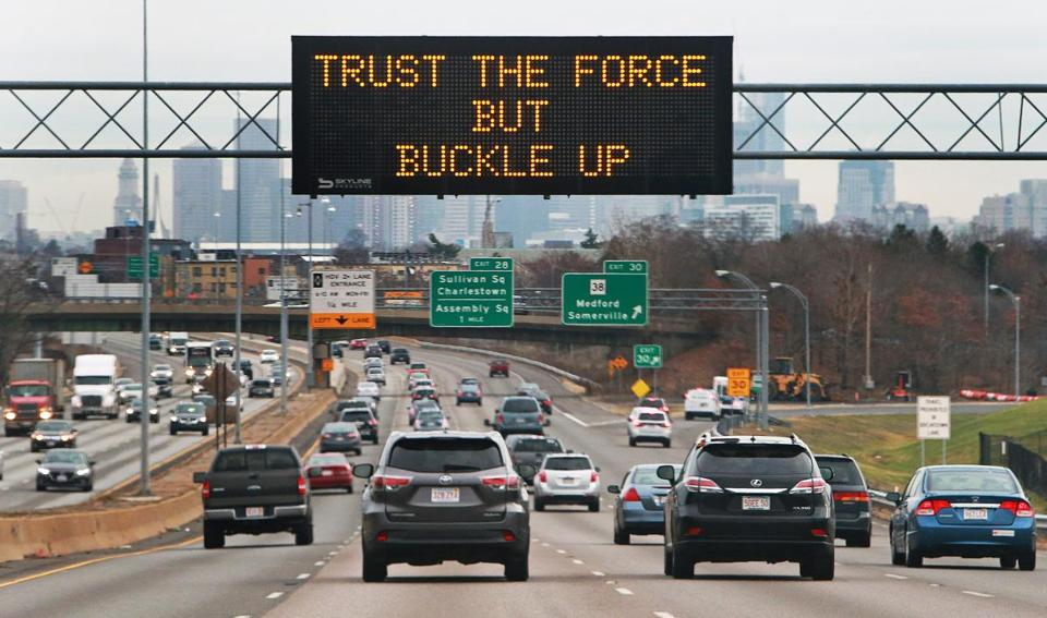 Massdot Posts Driver Safety Messages With A Holiday Twist
