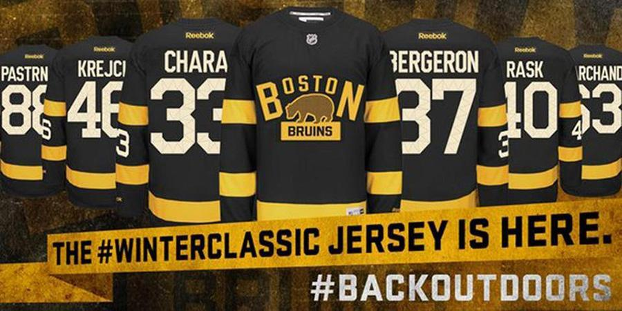 The Bruins got inspiration from the 1924-25 sweater when designing the Winter Classic jersey.