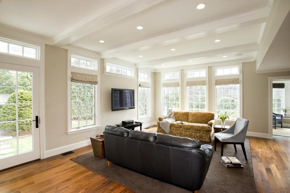 The Writer Created A Coffered Ceiling To Hide Support Beam