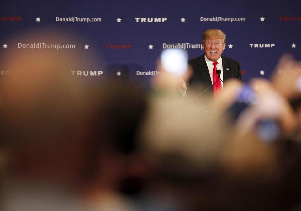 U.S. Republican presidential candidate Donald Trump spoke to supporters at the Westin Hilton Head Island Resort and Spa in Hilton Head Island, South Carolina.