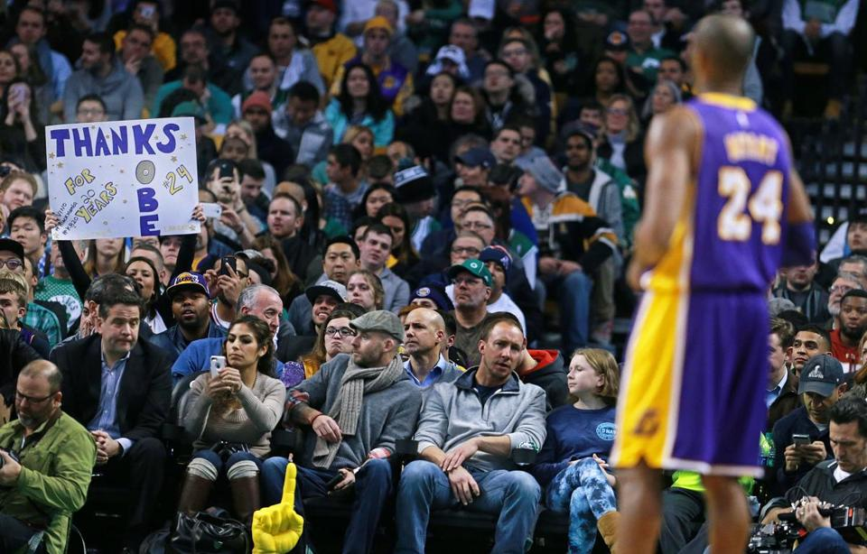 Celtics fans bid farewell to Kobe Bryant with cheers and boos - The Boston Globe