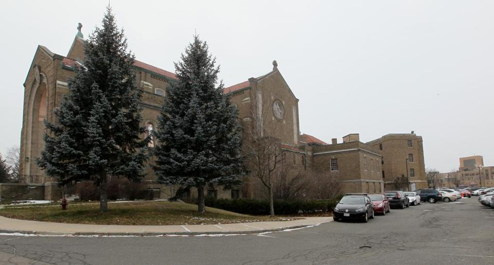 The old St. Gabriel Monastery in Brighton would be transformed into housing for graduate students in a plan similar to one that is creating such housing at the University of Chicago, shown in rendering.