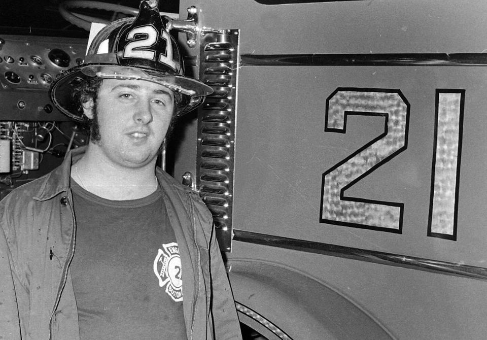 Mike Mullane, the firefighter's union stalwart, is seen in a 1971 photo in Dorchester.