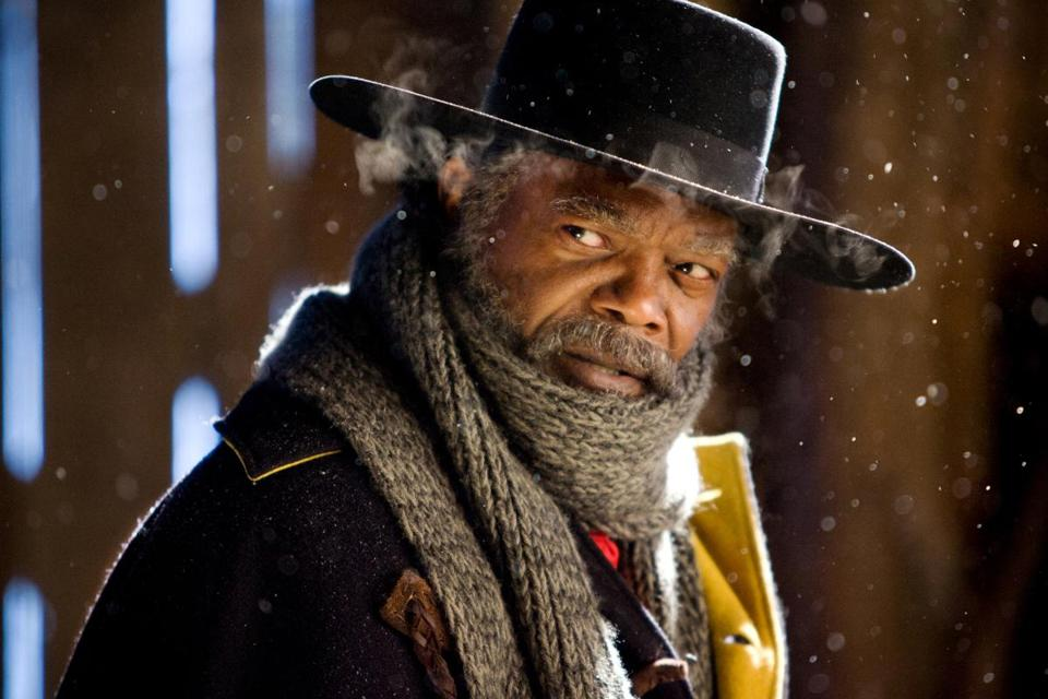 "Samuel L. Jackson in ""The Hateful Eight."""