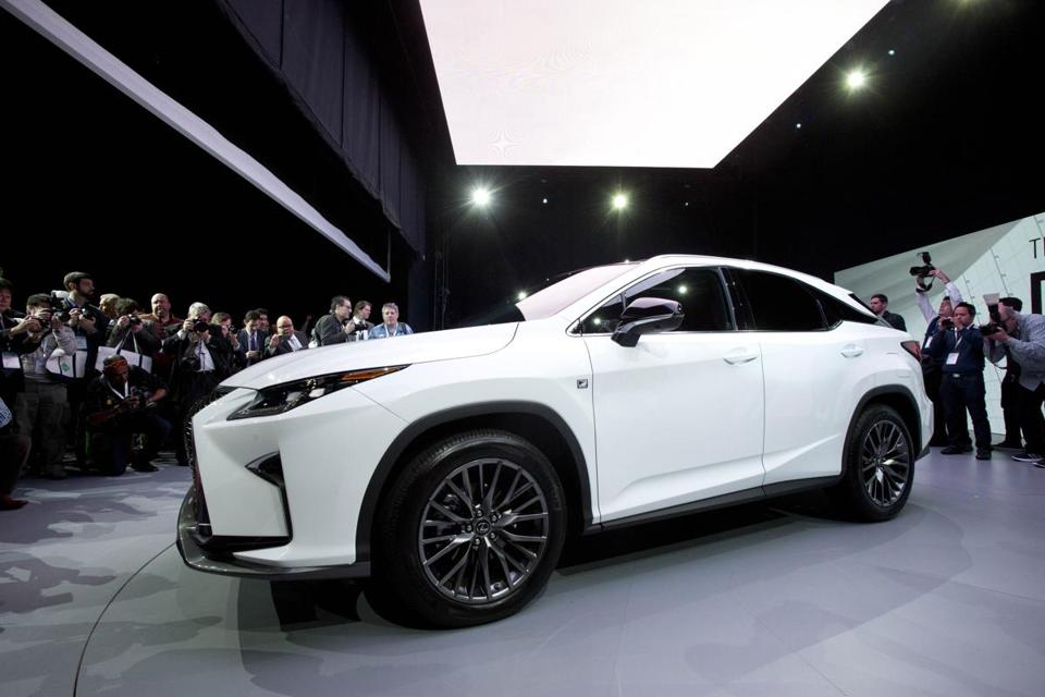 The 2016 Lexus RX, introduced last spring at the New York International Auto Show. Sales of luxury car models held steady in 2015.