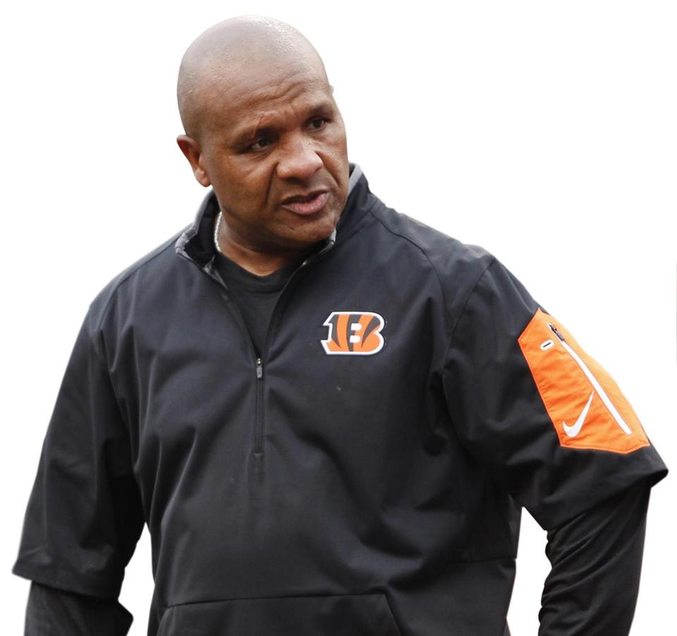 Cincinnati Bengals' Hue Jackson is the only black offensive coordinator in the NFL.