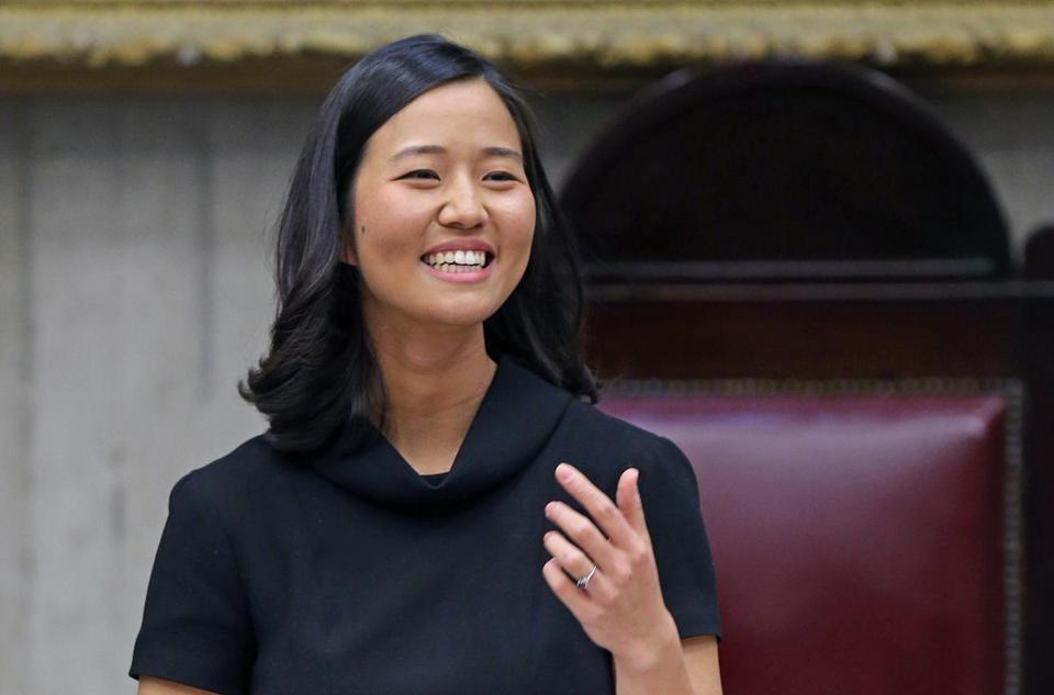 Michelle Wu was all smiles after her election as Boston City Council president.