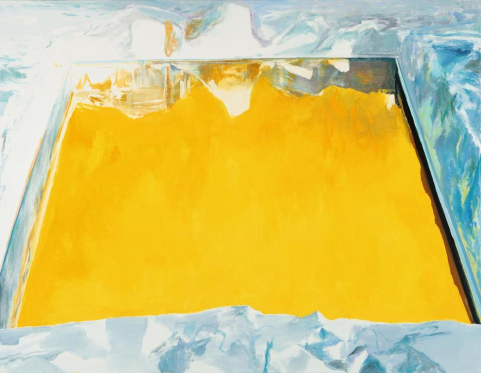 "Eric Aho's ""Ice Cut (Arctic Sky)"" is among the works on exhibit at Dartmouth College's Hood Museum of Art."