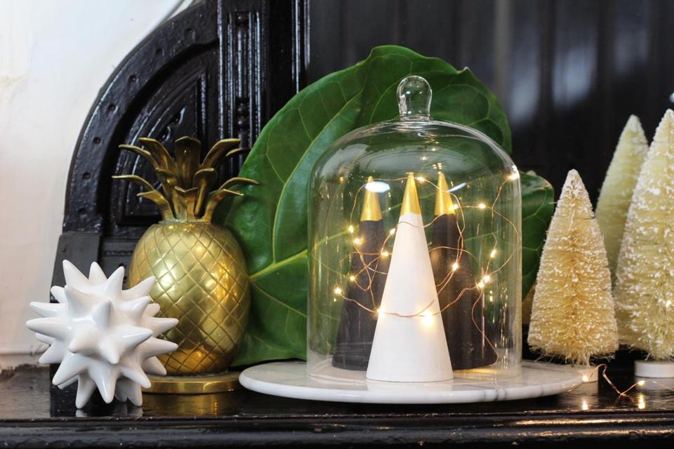 fireplace mantels cardboard 4 ideas for a cheerful post holiday mantel the boston globe