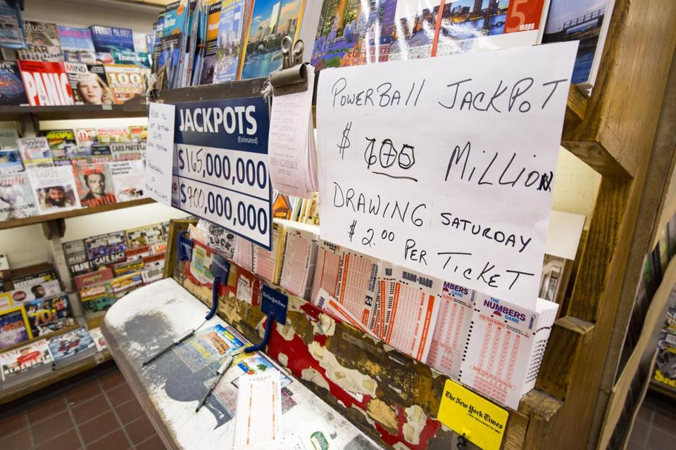Powerball tickets were on sale at the Crimson Corner in Harvard Square.