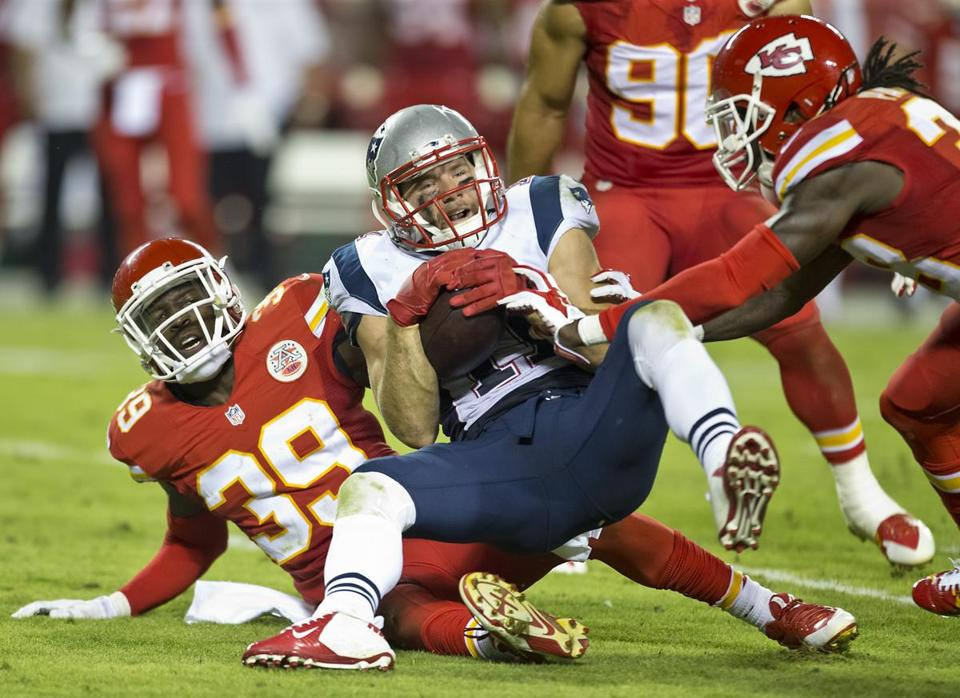 The last time the teams met, in September 2014, the Chiefs took the Patriots down hard.
