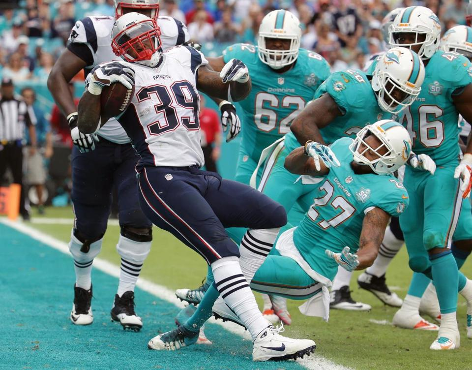 Jackson scored a touchdown Jan. 3 in the Patriots' regular-season finale against the Dolphins.