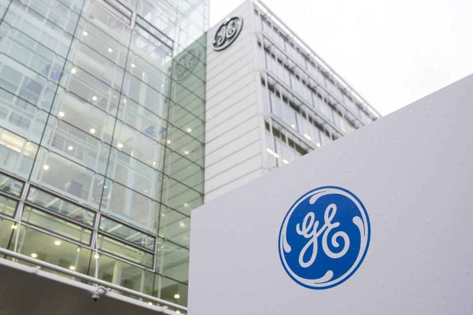 Exterior view on the the General Electric (GE) offices in Baden, Switzerland.
