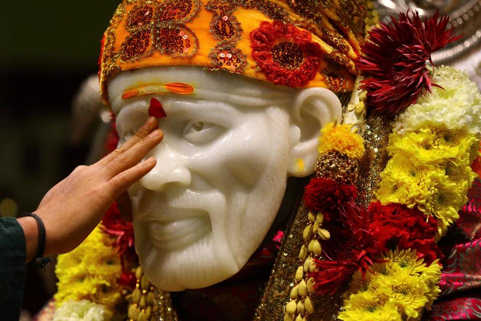 The Hindu temple follows the guru Shri Sai Baba, who was born in the 19th century.