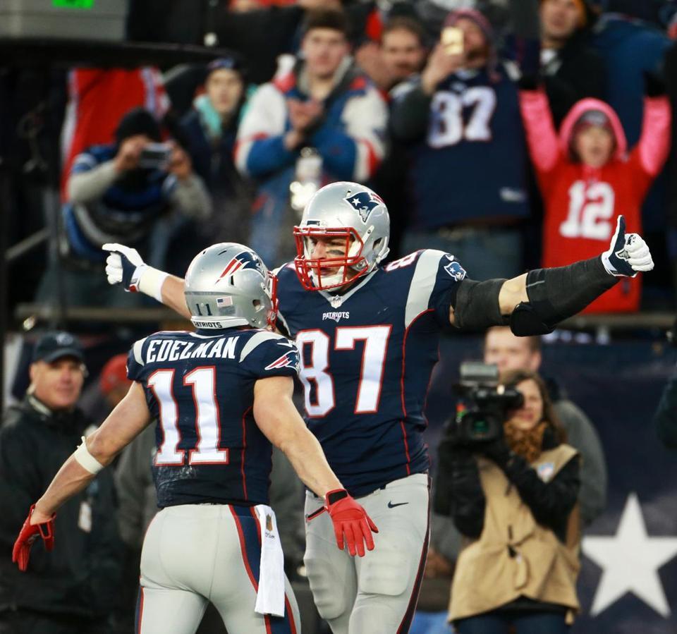Patriots Rode Julian Edelman Rob Gronkowski To Victory