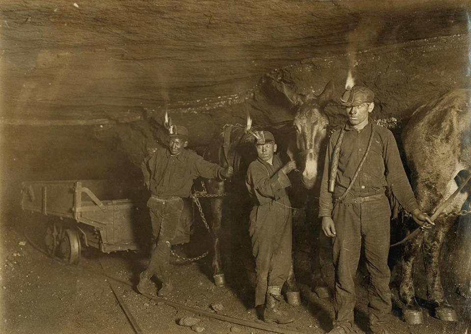 Coal miners in an undated photo.
