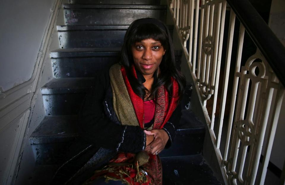 "Kirsten Greenidge at the Huntington Theatre, where her play ""Milk Like Sugar"" is in rehearsal."