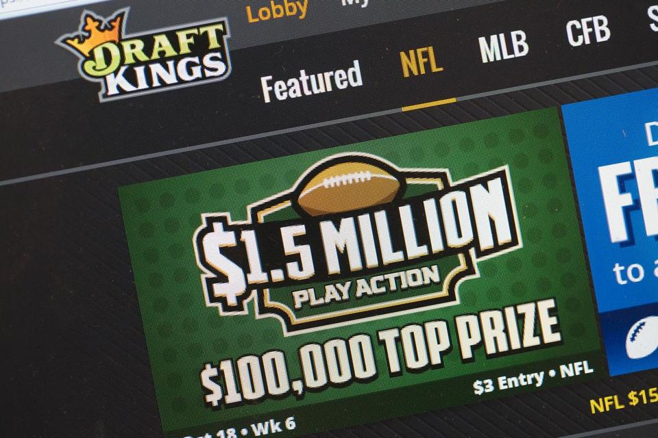 The fantasy sports website DraftKings.