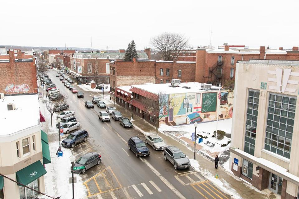 WATERVILLE, MAINE - JANUARY 15, 2016: Downtown Waterville, Maine, where local Colby College has purchased several properties in hopes of revitalizing the downtown. (Greta Rybus for The Boston Globe)