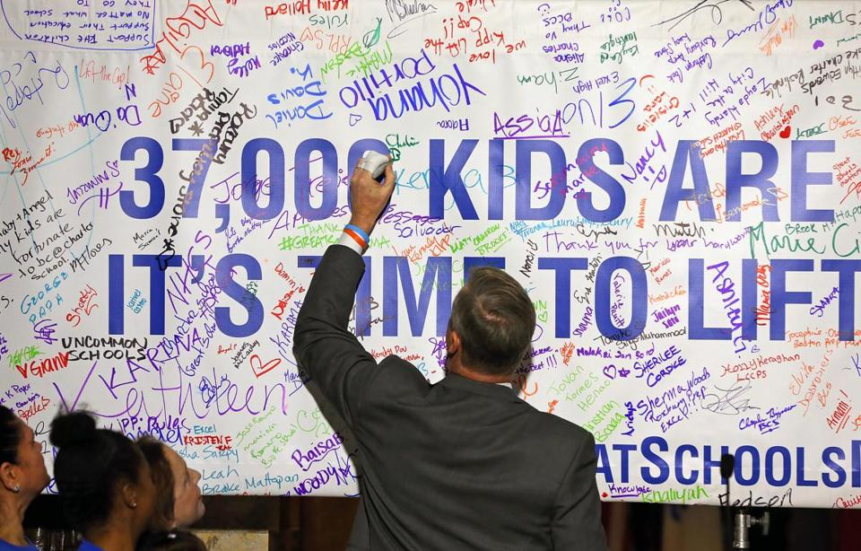 Baker Gets 25000 Signature Charter School Petition The Boston Globe