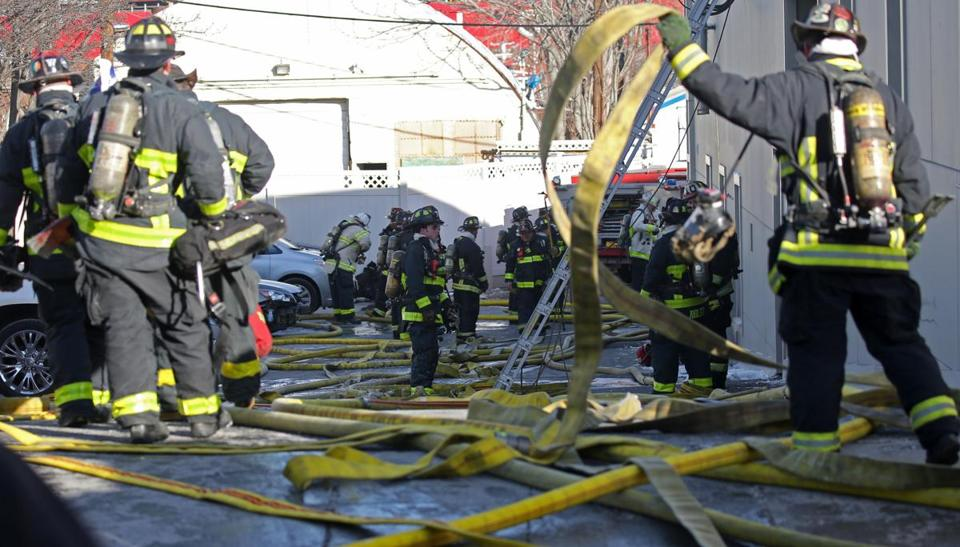 Firefighters Respondedto A Two Alarm Fire Wednesday Morning In East Boston