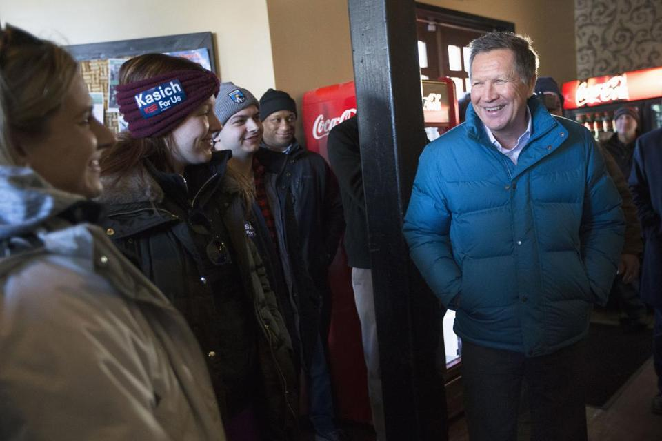 Governor John Kasich of Ohio campaigned last week in Laconia.