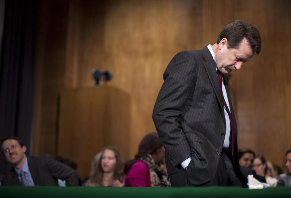 Dr. Robert Califf, President Barack Obama's choice to lead the Food and Drug Administration (FDA), waited before a nomination hearing last fall.