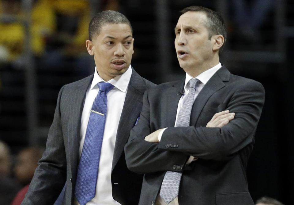 Tyronn Lue (left) took over as the Cavaliers head coach.
