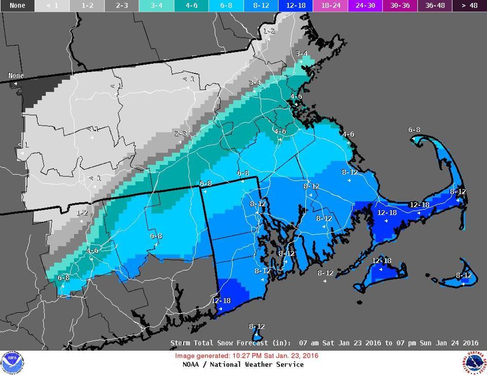 Snow Totals In Massachusetts The Boston Globe