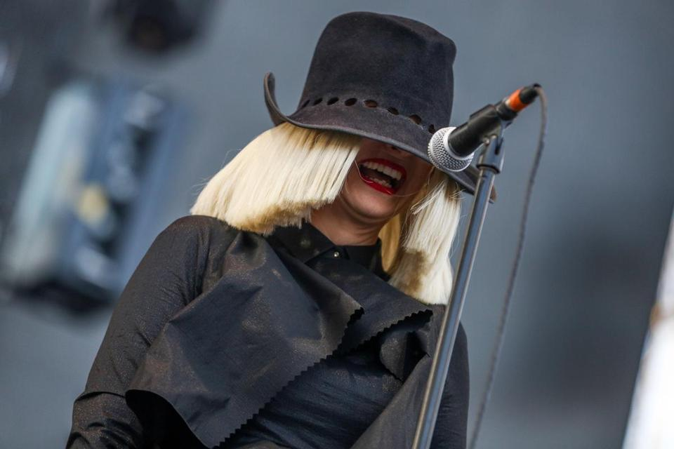 Sia performing at Wango Tango 2015  in California.
