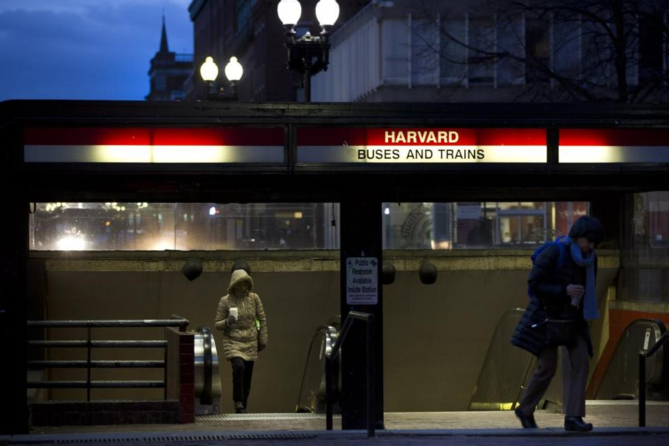 A commuter waiting for a train at the Harvard Square Red Line station recently found two swastikas and the name of a neo-Nazi website scrawled on a bench at the station.