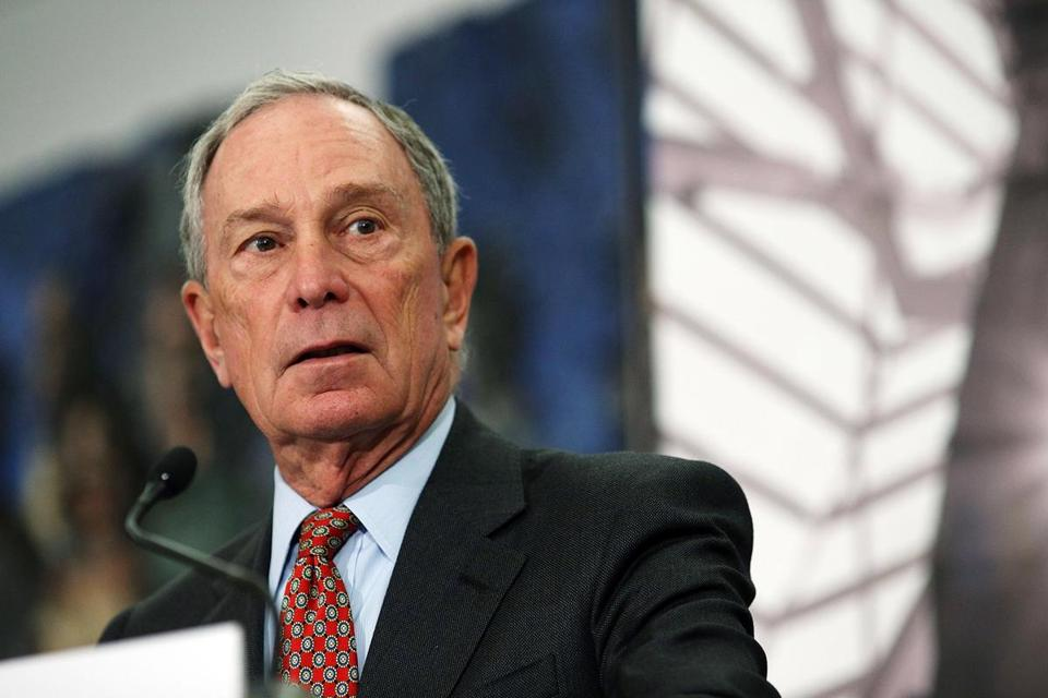 Long-swirling rumors of a Michael Bloomberg presidential run gained fresh force over the weekend. Pictured, Bloomberg in 2014.