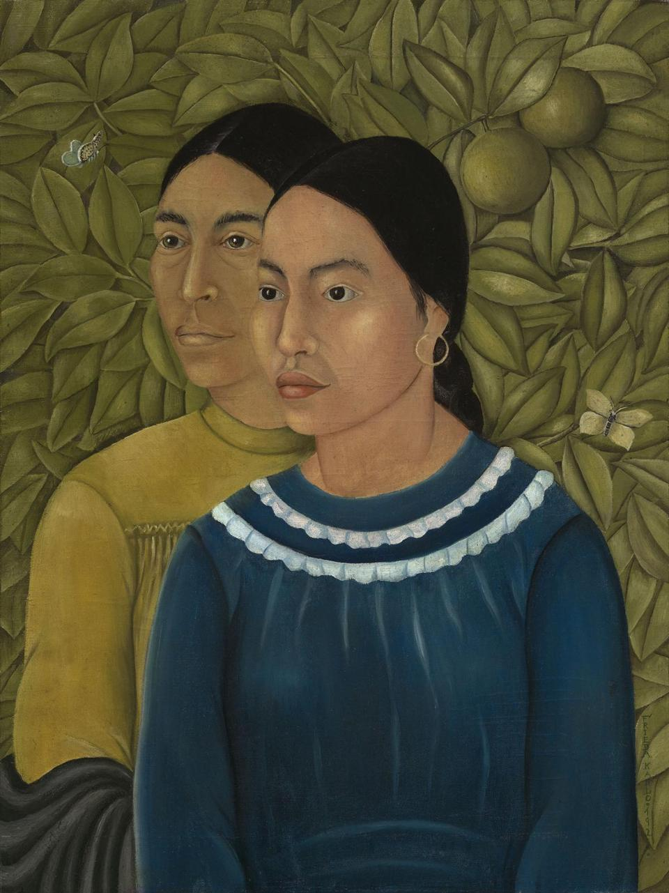 """Dos Mujeres (Salvadora y Herminia)"" is the only known work by Frida Kahlo to enter the permanent collection of a New England museum."