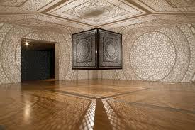 """Intersections"" by Anila Quayyum Agha at the Peabody Essex Museum in Salem."
