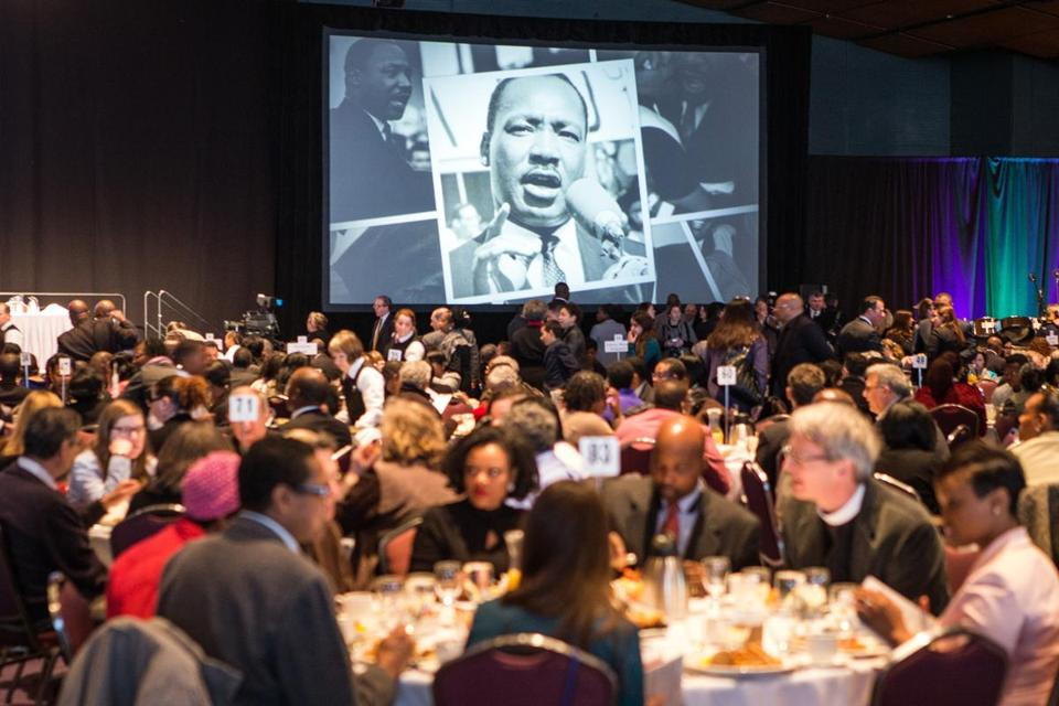 01/18/2016 BOSTON, MA The 46th annual MLK Memorial Breakfast held at the Boston Convention and Exhibition Center. (Aram Boghosian)