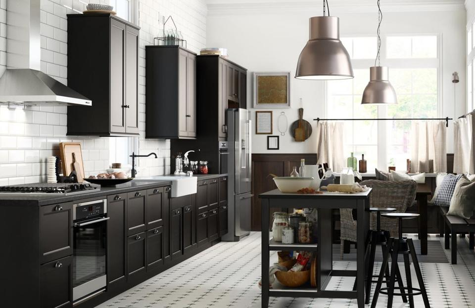 Contemporary or classic, black kitchens serve up style - The Boston ...
