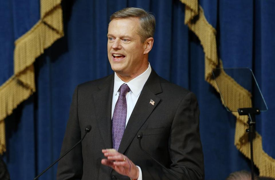 Massachusetts Gov. Charlie Baker delivered his State of the State address at the Statehouse in Boston.