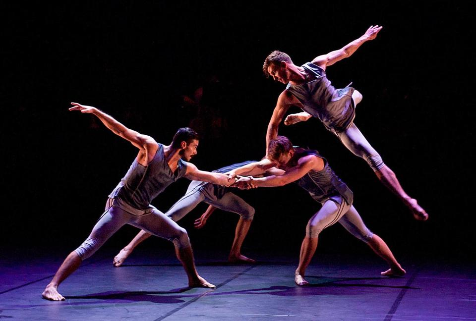 "BalletBoyz performed ""The Murmuring"" in 2014 in London. The group made its Boston debut Friday at the Shubert Theatre."