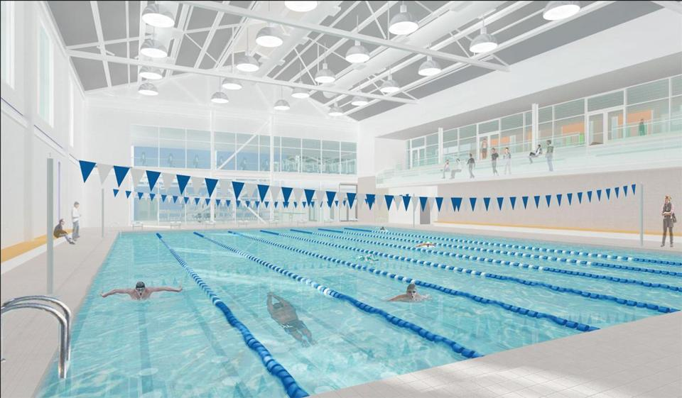 Plans include an eight-lane pool.
