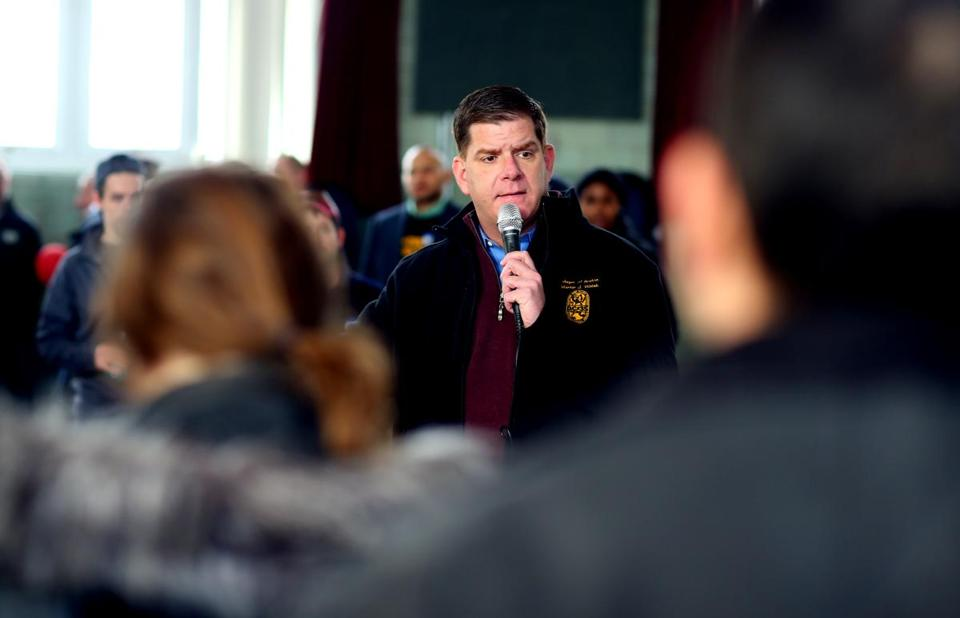Mayor Martin J. Walsh was in Manchester, N.H., last week for an event with other Massachusetts Democratic party members to support Hillary Clinton.