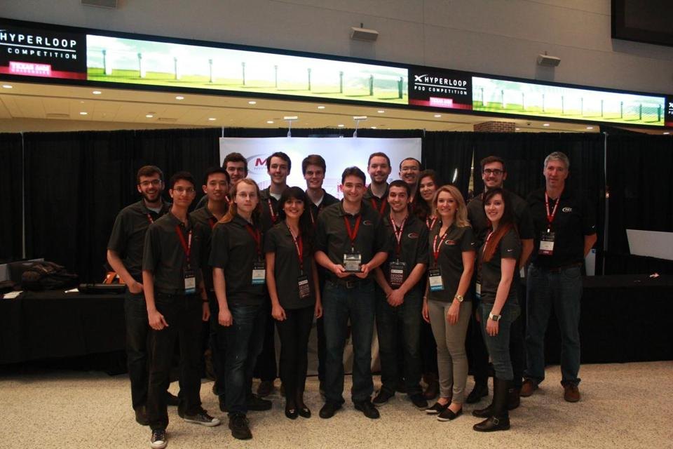 The MIT Hyperloop Team placed first out of more than 100 university teams from around the world.