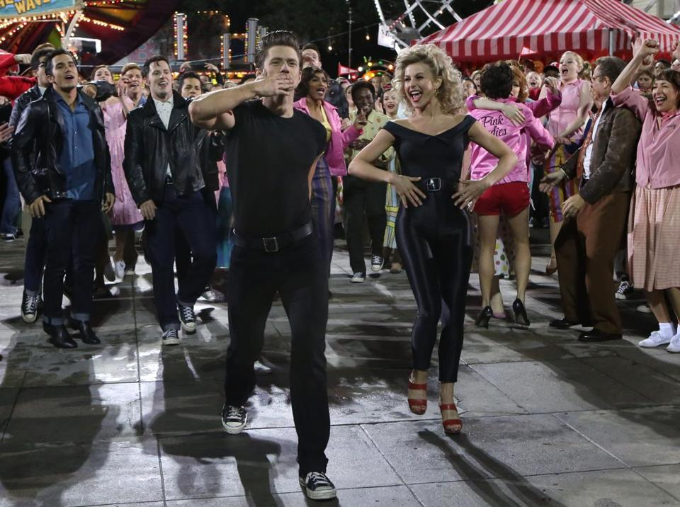 "The finale of ""Grease: Live"" on Fox."