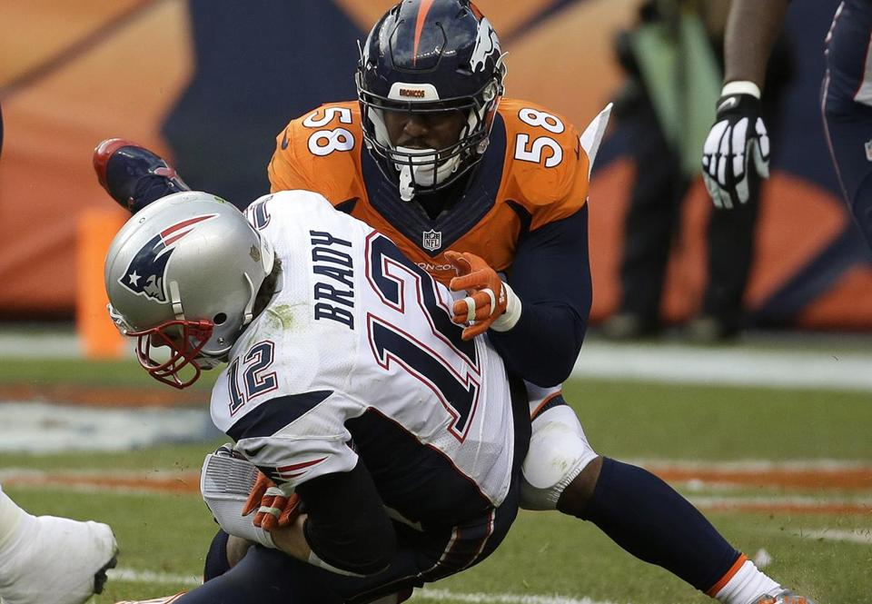 Broncos linebacker Von Miller terrorized Tom Brady in the AFC Championship game.